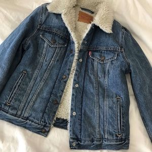 Levi denim jacket sherpa